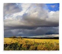 Prairie Thunderstorm Fleece Blanket