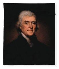 President Thomas Jefferson  Fleece Blanket