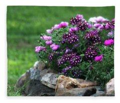 Pretty In Pink And Purple Fleece Blanket