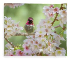 Pretty In Pink Blossoms Fleece Blanket