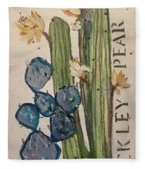 Prickley Pear Fleece Blanket