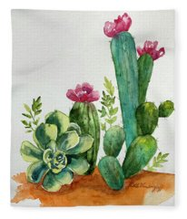 Prickly Cactus Fleece Blanket
