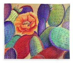 Prickly Rose Garden Fleece Blanket