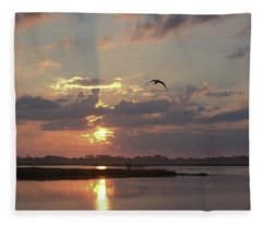 Prime Hook Sunrise 1 Fleece Blanket