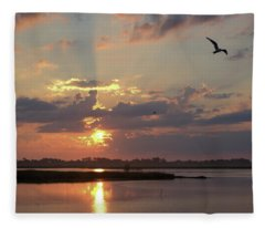 Prime Hook Sunrise 2 Fleece Blanket