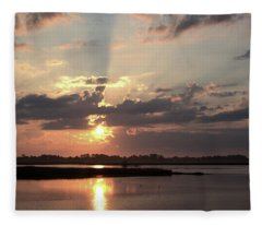 Prime Hook Sunrise 3 Fleece Blanket