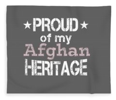 Proud Of My Afghan Heritage Fleece Blanket