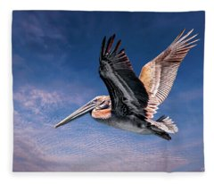 Proud Pelican Fleece Blanket