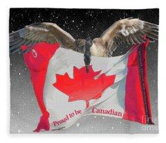Proud To Be Canadian Fleece Blanket