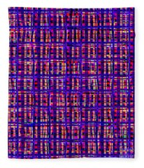 Psychedelic Art In Chaotic Visual Colors And Shapes - Ddf620 Fleece Blanket