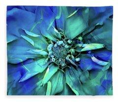 Psychedelic Blues Fleece Blanket