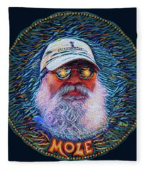 Psycodelic Mandolinist Fleece Blanket