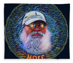 Psycodelic Mandolinist Fleece Blanket