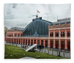 Puerta De Atocha Railway Station Fleece Blanket