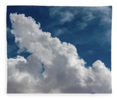 Puffy White Clouds Fleece Blanket