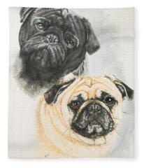 Pug Brothers Fleece Blanket