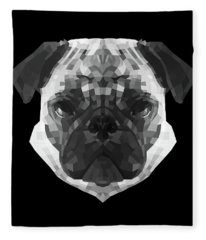 Pug's Face Fleece Blanket