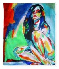 Pulsating Feelings Fleece Blanket