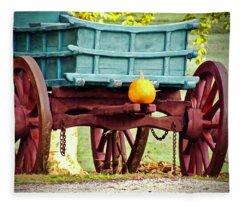 Pumpkin Trail Mix Fleece Blanket