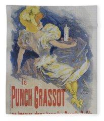 Punch Grassot, 1895 Vintage French Poster Fleece Blanket