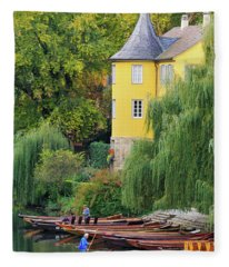 Punts In Lovely Tuebingen Germany Fleece Blanket