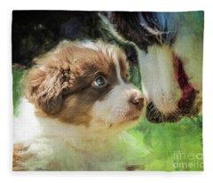 Puppy Dog Fleece Blanket