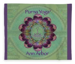 Purna Yoga Ann Arbor Fleece Blanket