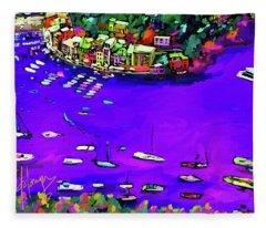Purple Cove Fleece Blanket