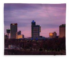 Purple Haze Skyline Fleece Blanket
