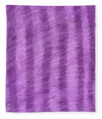 Purple Hazy Nights Fleece Blanket
