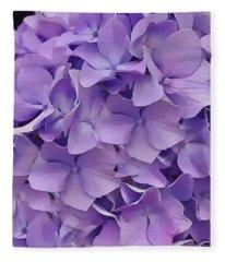 Purple Hydrangea  Fleece Blanket