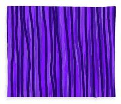 Purple Lines Fleece Blanket