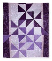 Purple Pinwheels Pirouetting Fleece Blanket