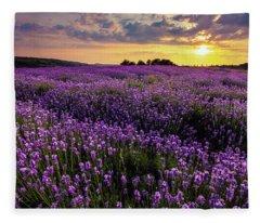 Purple Sea Fleece Blanket