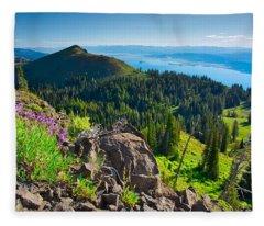Purple Vista Fleece Blanket