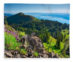 Purple Vista Fleece Blanket