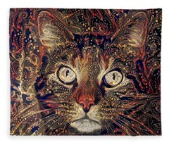 Mystic In Paisley Fleece Blanket