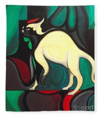 Pyewacket #3 Fleece Blanket