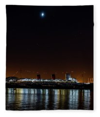 Queen Mary And The Moon - Square Fleece Blanket