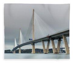 Queensferry Crossing Bridge 3-1 Fleece Blanket