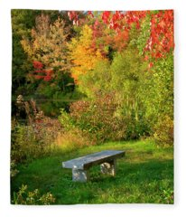 Quiet Autumn Moments Fleece Blanket