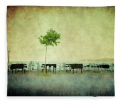 Quiet Evening Fleece Blanket