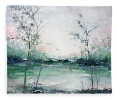 Quiet Waters Fleece Blanket