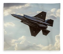 Fleece Blanket featuring the photograph Raaf F-35a Lightning II Joint Strike Fighter by Chris Cousins