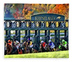 Fall Racing At Keeneland  Fleece Blanket