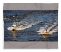 Racing To The Harbor Fleece Blanket