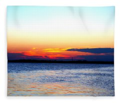 Radiant Sunset Fleece Blanket