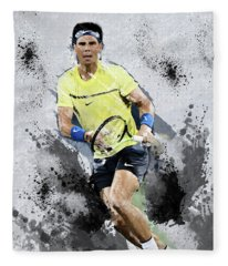 Rafael Nadal Fleece Blanket