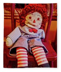 Raggedy Ann Doll Fleece Blanket