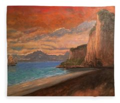 Railay Beach, Krabi Thailand Fleece Blanket